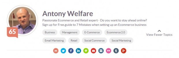 antony Welfare #klout etail success