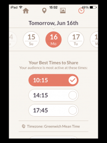 Klout schedule 15-06-14